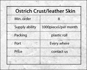 wholesale ostrich leather
