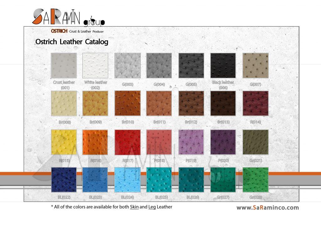 چرم رنگ شده - فروش چرم شترمرغ- خرید چرم شترمرغ